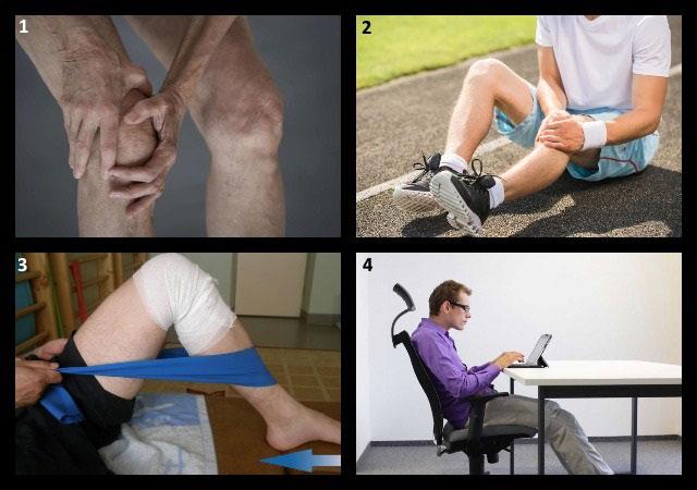 показания для проведения мероприятий по укреплению коленных суставов