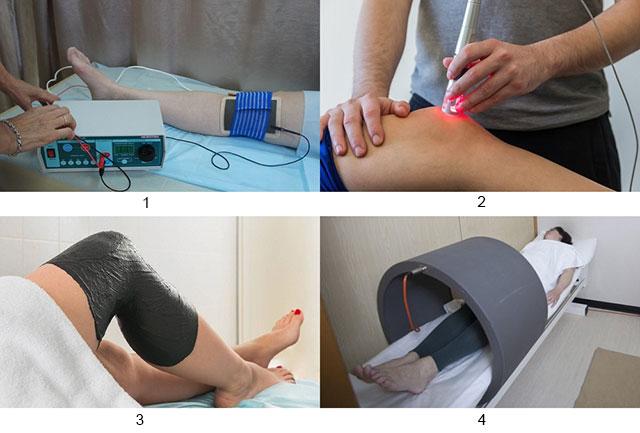 электрофорез, лазерная терапия, грязевое лечение, магнитная терапия