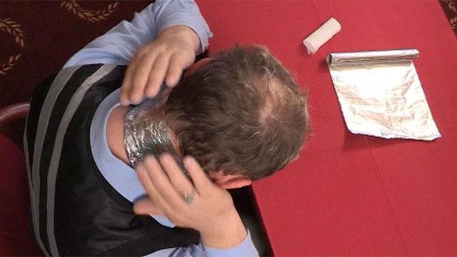 аппликация из фольги при болях в шее