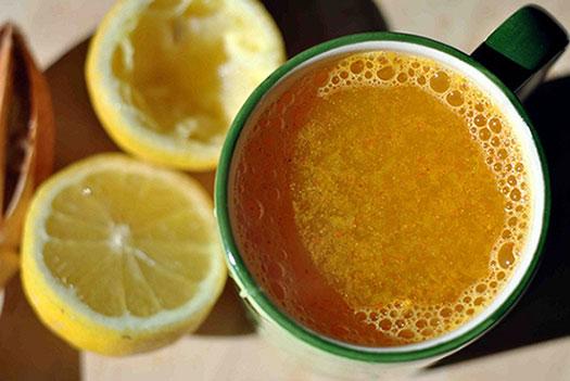 чай с куркумой, имбирем и лимоном