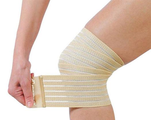 бинтование коленного сустава